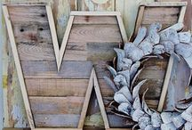 Pallets & Wood Reclaimed / by Tanya Lewis