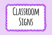 Classroom Signs / Classroom management and classroom signs resources for EYFS, KS1 and KS2 from the trusted home of thousands of lovely unique FREE primary teaching resources for teachers, home educators,childminders, nurseries and more.  / by twinkl Primary Teaching Resources