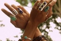 Unique Jewelry / Native-gypsy-bohemian-interesting gems /crystals- silver and gold / by Marcy V