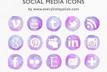Social Bookmarking Icon Set / by C'e' Crisi, C'e' Crisi! by Alex Bonetto