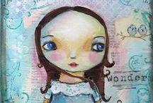 Art Faces {Draw, Paint, Sketch} / by C'e' Crisi, C'e' Crisi! by Alex Bonetto