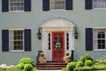 Painted Brick / Ideas for painting our brick exterior / by Linda Difino