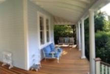 Porch / Ideas and inspiration for our wraparound Victorian porch: victoriaelizabethbarnes.com/projects/front-porch-restoration/ / by Victoria Elizabeth Barnes