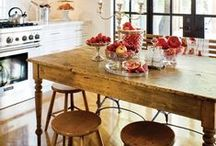 Farmhouse Kitchen  / Inspiring ideas from around the world... for your farmhouse kitchen! / by Debbie Bosworth