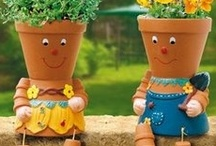 Clay and plastic pots / by Shirley Ramey