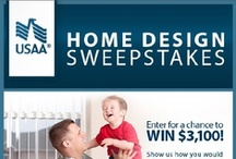 USAA Home Design Sweepstakes / Only one lucky winner will take home the $3,100 USAA Home Design Sweepstakes grand prize, but USAA members remain eligible to receive a cash bonus when they buy and sell a home through the USAA MoversAdvantage® program. Create a Pinterest board to show us how you would use the extra cash to decorate a room in your new home. You could win $3,100! We've pinned some home design inspiration to help get you started. Click the Home Design Sweepstakes pin for registration and details. / by USAA