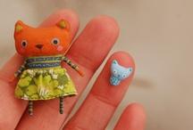 Felt cute / #Cute #felt #creations #doll #plush #embroidery #accessory #craft / by Coco Flower