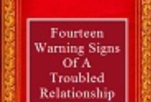 E-Books - Post yours!  Or Your Favorite e-book!!! / Fourteen Warning Signs of a Relationship in Trouble describes the way couples get in trouble when they are looking for love.  Everyone wants to find happiness and be in a healthy relationship.  However, overlooking road signs can deter a relationship from moving into a happy marriage and spiritual happiness.  This book can be found on Amazon/kindle.