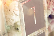 Event//Wedding Table Numbers / by Andrea Rachel