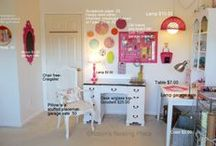 Sewing- and craft room ideas / Tips, ideas and organizing   / by Suze Smidt