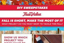 "True Value ""Fall Moments"" Sweepstakes / pin a fall DYI project - 10.04.2014 / by Monica Kim"