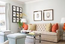Formal Living Room / struggling between coral/teal accents or emerald green.  / by Denise Johnson