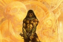 Frank Frazetta / an American fantasy and science fiction artist, noted for work in comic books, paperback book covers, paintings, posters, LP record album covers and other media.. / by Sasha Sotirov