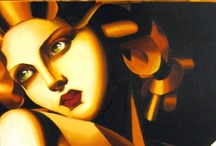 "Tamara de Lempicka / as someone accurately said ""the first woman artist to be a glamour star"".. / by Sasha Sotirov"