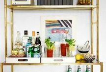 Bars + Bar Carts / Organizing and styling your home bar. / by StyleCarrot • Marni Katz