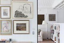 Displaying Art / Art gallery walls at home.  / by StyleCarrot • Marni Katz