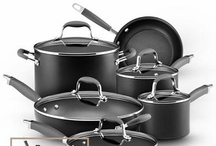 Hard Workers / Anolon Advanced cookware offers a sophisticated professional look that will complement every kitchen. The collection's heavy gauge, hard-anodized construction ensures efficient, even heat distribution for exceptional gourmet cooking performance.  / by Anolon® Gourmet Cookware