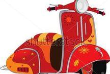 "Art--Motorized ""bikes"" / by Mickey Betz"