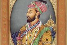 """Mughal Empire / An imperial power in the Indian subcontinent from about 1526-1847, the Mughal Emperors were Muslims and direct descendants of both Genghis Khan and Tamerlane.  The """"classical period"""" of the empire started in 1556 with the accession of Akbar the Great.  The reign of Shah Jahan, the 5th emperor, was the golden age of Mughal architecture and the arts.  He erected many splendid monuments, the most famous of which is the legendary Taj Majal at Agra as well as the Pearl Mosque, Lehore Fort and others. / by Pamela Scott"""