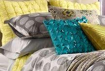 home beddingsLinensHeadboardsDrapes / by Pixel Musings