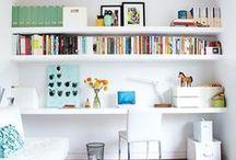 home OFFICEcraftDen / home office ideas... craft room... / by Pixel Musings
