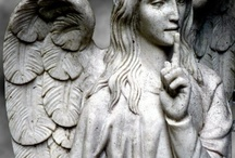 Angels among us in statuary / by Margaret Holloway