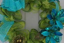 more wreaths / by Roberta Barnhart