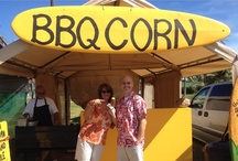 uncle woody's bbq corn / island style baja style real butter sweet corn locally grown fresh friendly north shore oahu hawaii / by Lauren Parnell