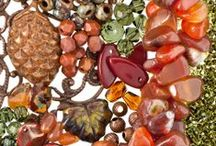 Harvest Color Idea / Explore the rich autumnal color palette of Harvest, a perfect fall color bounty of luscious rust, amber, copper, red, khaki, and brown hues. Fire polished glass beads, Swarovski Crystals, gemstones, picasso seed beads, Vintaj products, and more comprise this warm and inviting color idea that is ideal for fall jewelry. / by FusionBeads