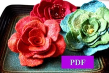 KNITTING, FELTING, SEWING & PAINTING / knitting and esp. felting hats/designing them, sewing and fabrics. Flower designs with felt, fabric, paints, crochet or knit. Yea! / by Trudy Dudley
