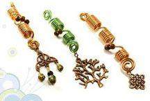 Dreadlock beads / Handmade Dreadlocks Accesories, available in my shop: www.foambubbles.etsy.com #dread# #locks# #dreadlocks# #beads# #sleeve# #accessory# / by Foam Bubbles