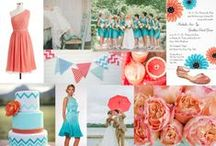 WEDDINGS... Coral & Turquoise / by SIMPLE WISHES - Cindy Norman