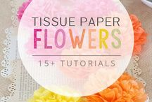 Art/Craft Ideas-Flowers (Tissue,Crepe Paper,Coffee Filter) / by Sandi Holmes