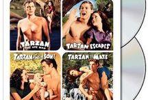 Tarzan & Jane - Maureen O'Sullivan and Johnny Weissmuller / A inglesa Jane(Maureen O'Sullivan) se une a caçadores de marfim que procuram um cemitério de elefantes na África. É salva por Tarzan(Johnny Weissmuller), um homem criado pelos macacos. / by Madalena Mendonça