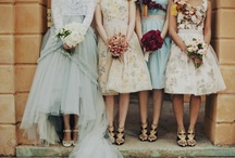 wedding fashion / wedding dress bridesmaids dresses  / by Chan Ichi Ban