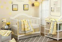 Baby Nursery / Neutrals, yellow, gray. Add Pink for girl. Add turquoise/green for boy. Bees, vintage, patterns, eclectic. Little golden books, blocks. / by laura lulu t