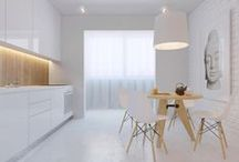 white kitchen / by Marta Klinker