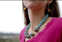 Jewelry, showing it off! / Felice's one-of-a-kind jewelry in action, out in the world.. / by Felice Designs