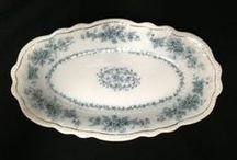 Antique Dishes / Antique dishes: plates, serving dishes, vases.  Glass, porcelain, pottery, pewter, metalware. / by The Apple Barrel