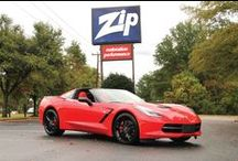 C7 Corvette Stingray - Zip Mule  / This is Zip Corvette's new 2014 C7 Corvette. Corvette Stingray Z51 Coupe. Exterior: Torch Red, Interior: Adrenaline Red 7-Speed Manual Transmission / by Zip Corvette Parts