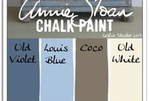 ChalkPaintColorChips-Blue / More ChalkPaint Boards: Coloriffic*Technique*Palettes*ChalkPaintInspiration / by Tina