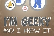 """Geek Out! / """"... because nerds like us are allowed to be unironically enthusiastic about stuff...Nerds are allowed to love stuff, jump-and-down-in-the-chair-can't-control-yourself love it.""""  ~~John Green / by Amber Rose"""