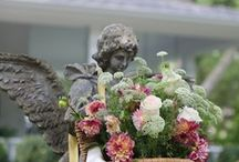 "Heavenly Statuary / by Christie Repasy Designs~ ""Chateau de Fleurs"""