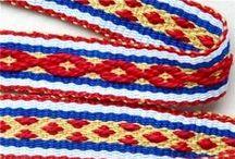Sami, Pebble, and Pickup Weaving  / Sami Bands, Andean Pebble weaving, and pickup styles / by Forest Woman