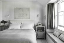 { b e d s . } / beds, beddings, blankets, headboards, + pillows.  / by Kate Darowski