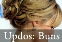 Updos: Bun Updos / by Hairstyles Weekly