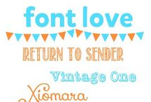 Obsessed with Fonts / by Lisa (Wine & Glue)