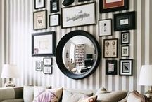 Gorgeous Gallery Walls / Lovely photo groupings on your walls...usually family but doesn't have to be. / by Judy Ridings :)