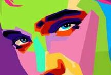 Fun POP Art!! / an art movement that stated in the late 50s in Britain then came to the US / by Judy Ridings :)