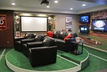 Man Cave / Find ideas to transform your basement into a space that's just for him. From big screen TV's to cozy couches to pool tables, you'll keep him grinning from ear to ear! / by ShopHQ